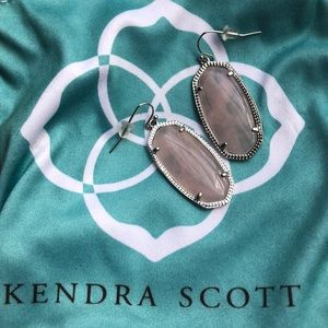 KENDRA SCOTT pale pink stone in silver.